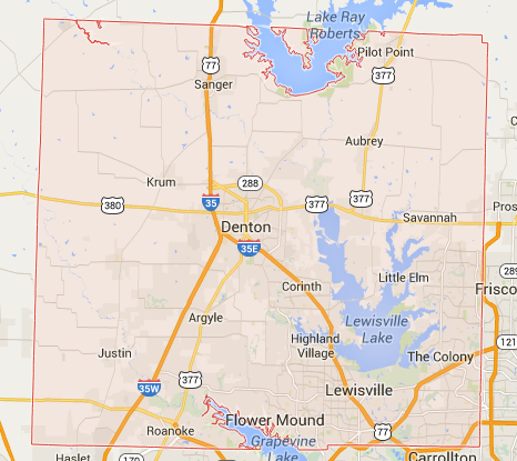 Universal Cleaning Company Service Area—Denton County, TX
